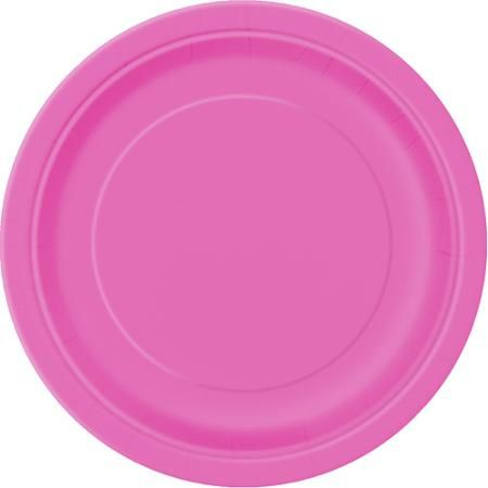 "9"" Pink Dinner Plates, 20ct - Walmart.com"