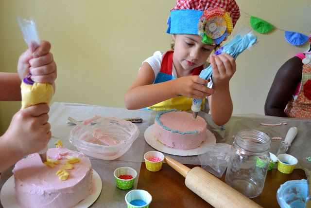 From The Hive: cake decorating birthday party