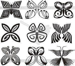 картинки стилизованные бабочки