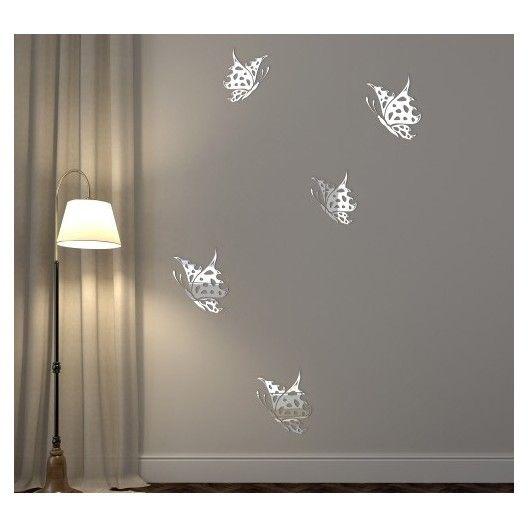 Dekoračné interiérové zrkadlá vo vzore motýľov