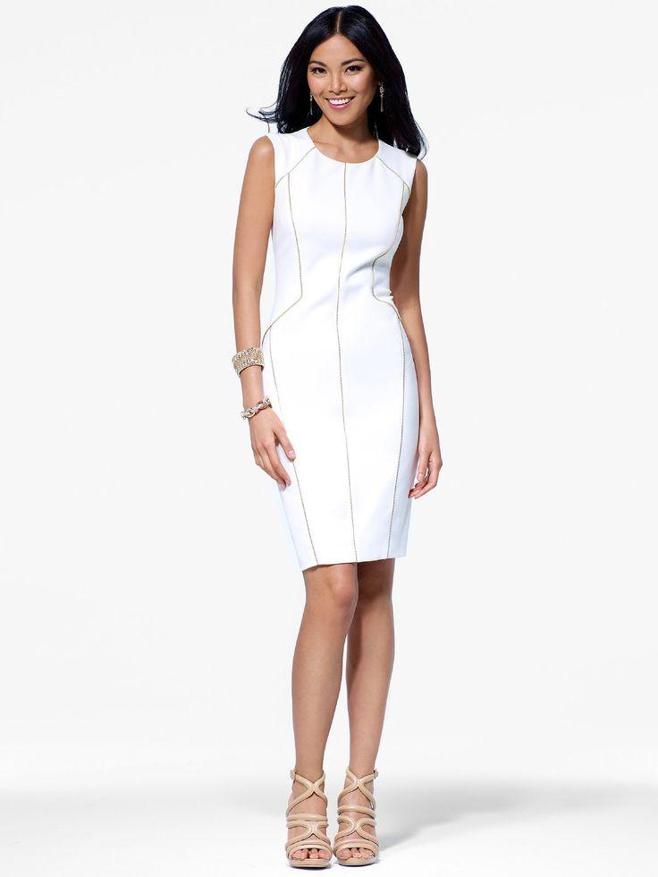Cache black and white jacquard dress