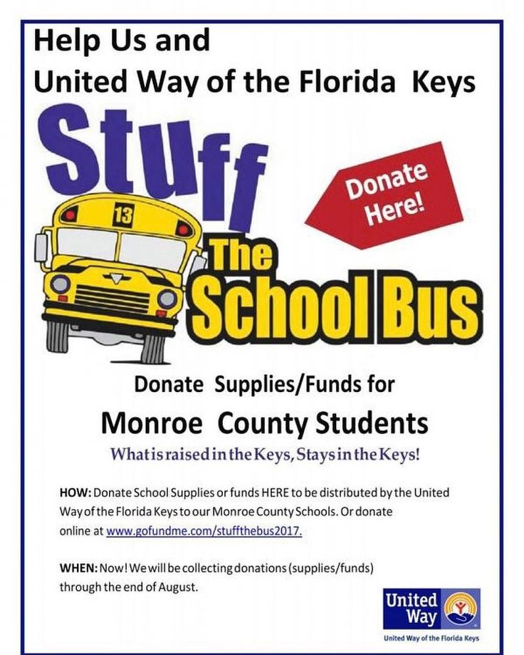 July means Stuff the Bus school supply collection season is beginning! Local companies can become sponsors of Stuff the Bus by collecting $250 worth of school supplies through a supply drive with their employees or customers or by making a contribution of $250 or more. Supplies will be collected until the end of August. Individuals can participate in Stuff the Bus by taking school supplies to a sponsors business making a donation online shopping at Publix and buying Tools for Schools gift…