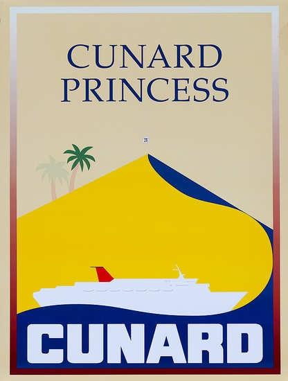 DP Vintage Posters - Original Cunard Cruise Lines Poster Cunard Princess