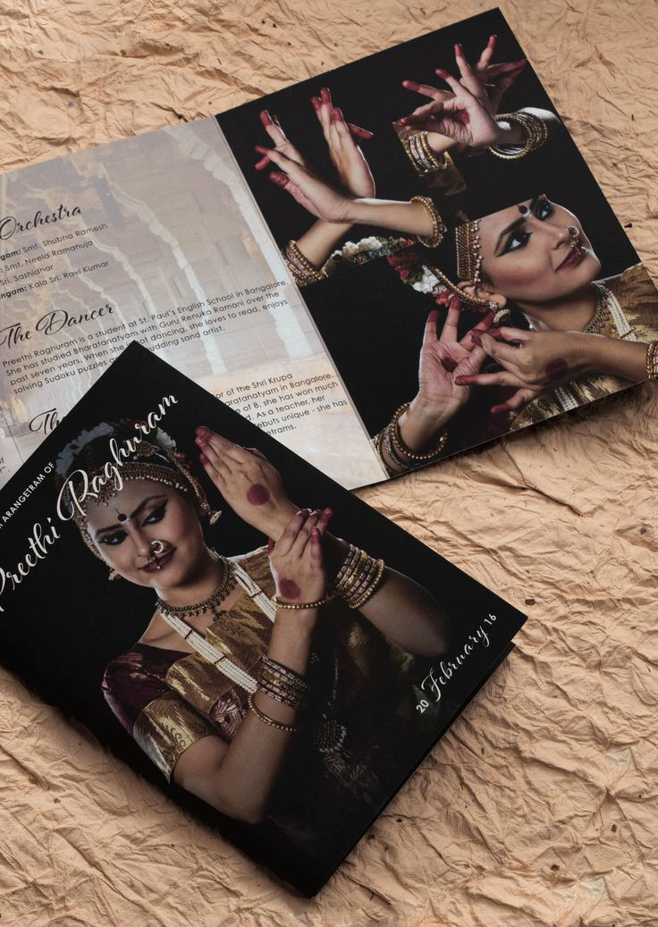 Your Arangetram Program with a modern touch. http://www.inksedge.com/product/arangetram-invitation-cards/Temple-Stage-Trilfold/