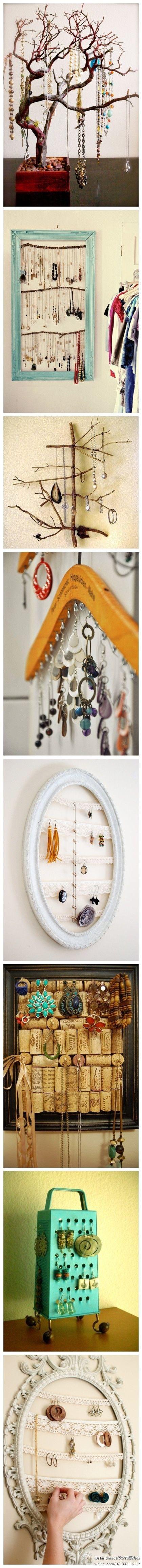 Ideas para organizar tus prendas de bisutería. te traemos unas maneras simples de organizar tus prendas de bisutería. http://wp.me/p1ytFq-yG