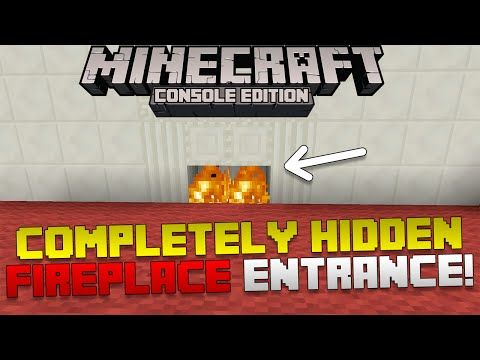 Minecraft: How To Make a 100% Fire Place Secret Base Entrance! [Xbox & Playstation] - YouTube