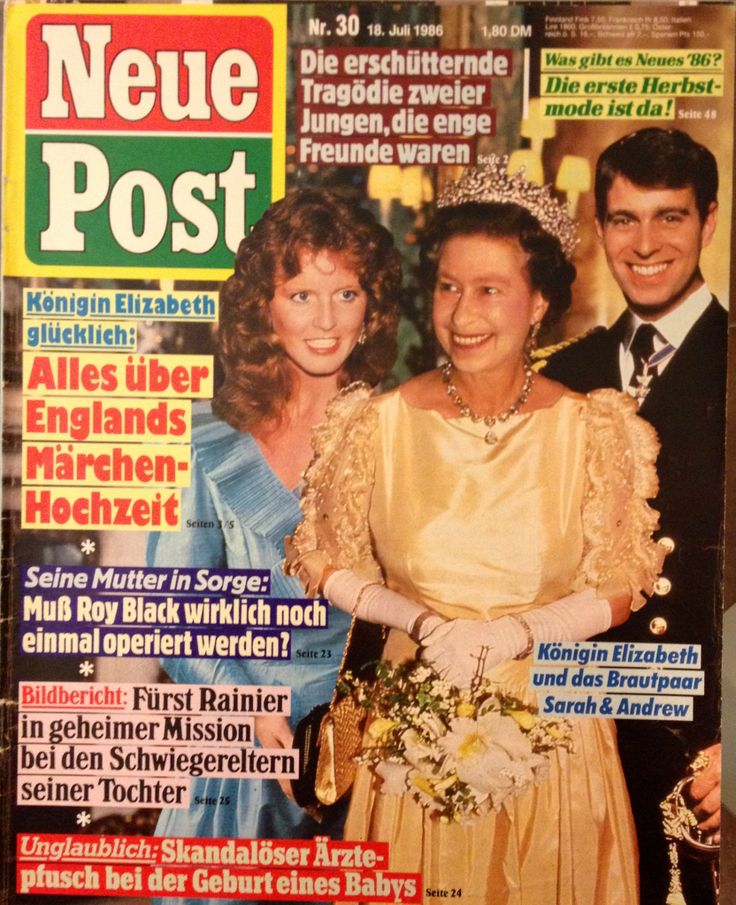 Neue Post 30 - 18.07.1986 - Königin Elizabeth, Prinz Andrew, Sarah Ferguson