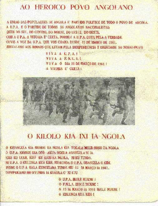 Panfleto da UPA.