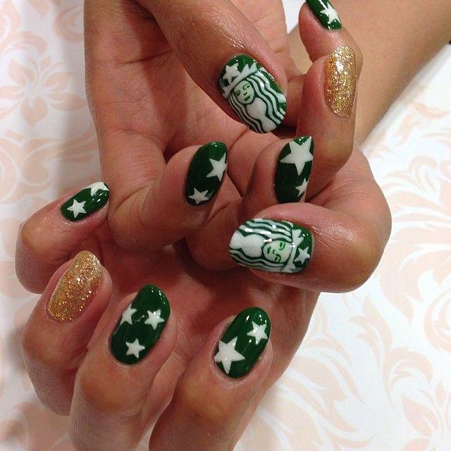 emi_aoki_nails starbucks #nail #nails #nailart