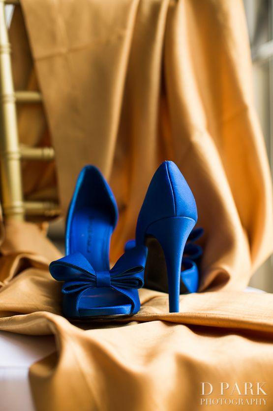 Blue Bride Wedding Day Heels Shoes Ideas