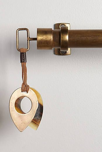 Leather-Latched Horn Finials