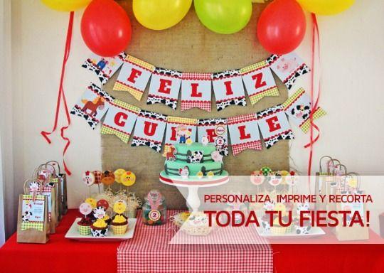 Decoraciones imprimibles para fiestas en Todobonito.com - DECORACIÓN FIESTAS