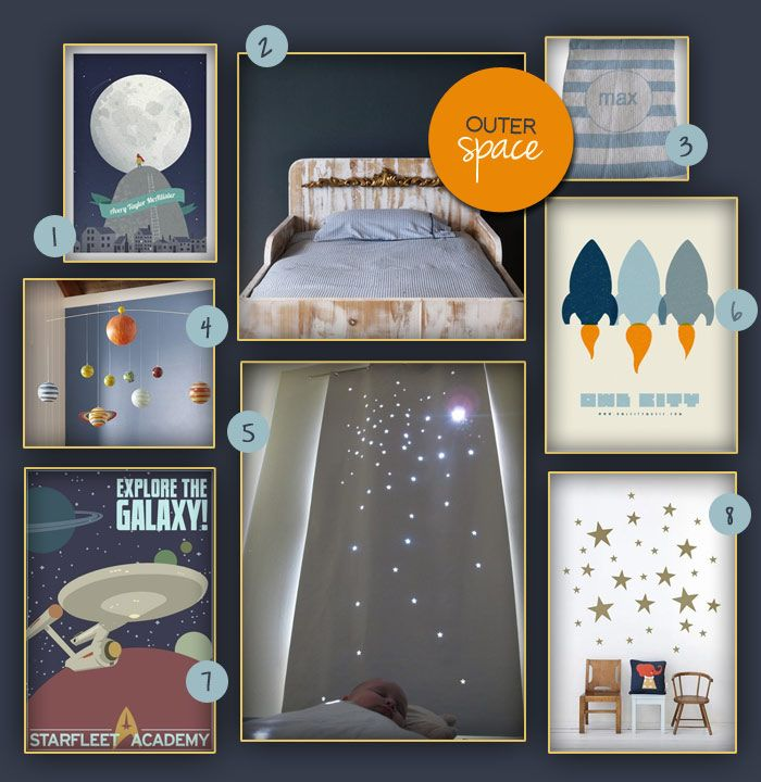 kids room decorating idea outer space