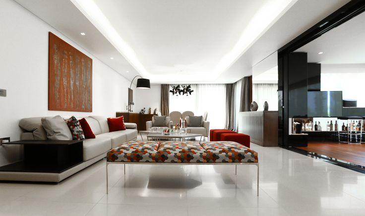 Modern Garden Flat in Lebanon Showcases Designer Furnishings - http://freshome.com/modern-garden-flat-in-lebanon/