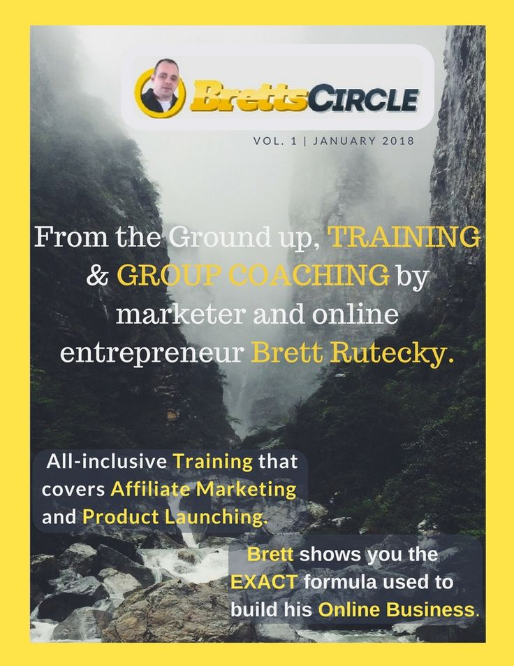 Brett's Circle is an all-inclusive, detailed step by step video training that covers both affiliate marketing & product launching by top entrepreneur Brett Rutecky.  You'll also receive Full Lifetime Access to his insider Facebook Group, where he personally answers your questions!   If you're serious about building a real online business, click here to get started, right now!  #StartingABusinessFromHome  #HowToIncreaseWebsiteTrafficForFree