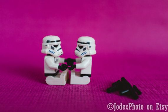 Instant Digital Download Star Wars™ LEGO® Stormtrooper 'Hand in Hand' Photograph Pink Love Valentine's Day by JodexPhoto on Etsy