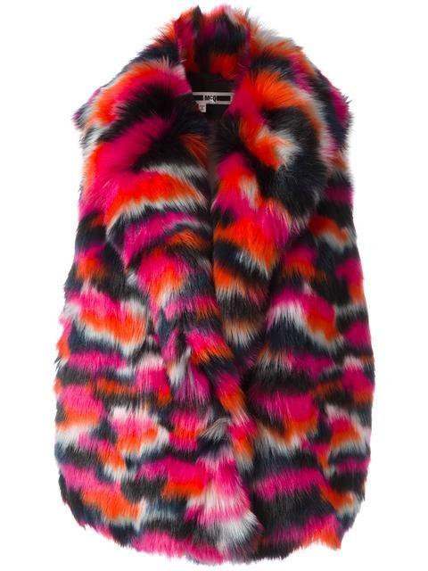Shop+McQ+Alexander+McQueen+faux+fur+gilet.