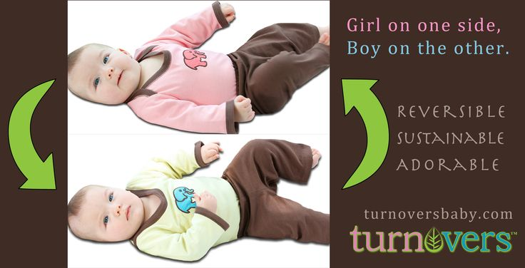 Flip it inside out. Girl on one side, Boy on the other. A simple, smart approach to gender-neutral!