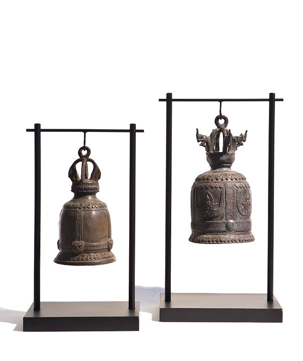 Thai temple bells from Michael Dawkins Home
