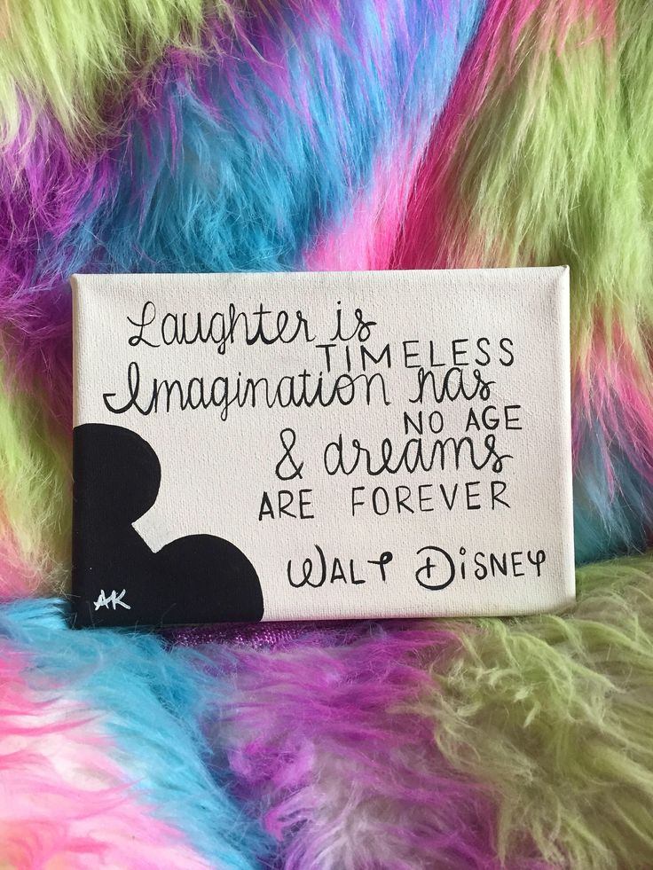 Laughter is timeless, imagination has no age and dreams are forever - Walt Disney - painting - home decor - wall art - canvas https://www.etsy.com/listing/475657720/walt-disney-quote-painting-laughter-is
