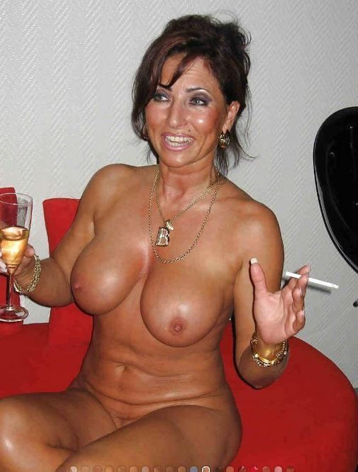 Mature Sex  Topless Mature Women Smoking-8048