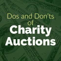 With these charity tips, your auction should be a huge success and make a significant contribution to your nonprofit organization's mission