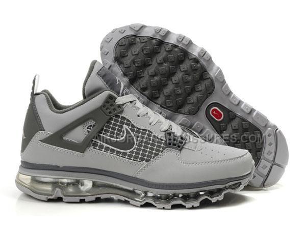 cheap air max jordans 4 iv mens basketball shoes grey for sale
