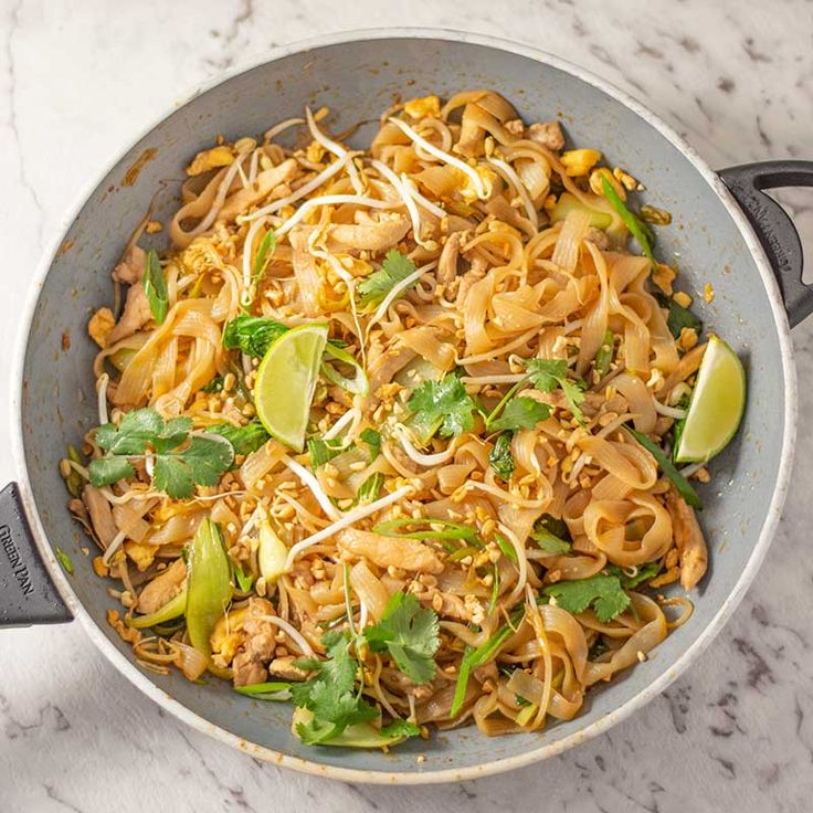 keto chicken pad thai  low carb stir fried noodles