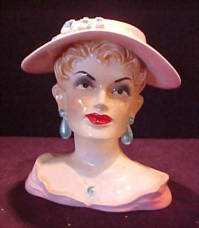 Vintage Hat Lady Head Vase Head Vases Pinterest Lady Vintage