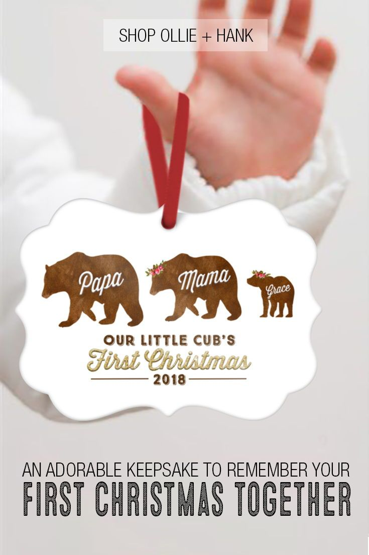 First Christmas Ornament Baby   Bear Family Ornament     New Baby ...