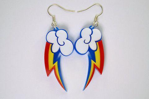 My Little Pony Rainbow Dash Cutie Mark Earrings