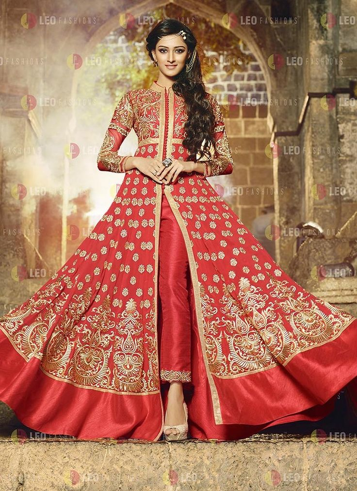 Buy Bridal Invigorating Red Party Wear Anarkali Suit