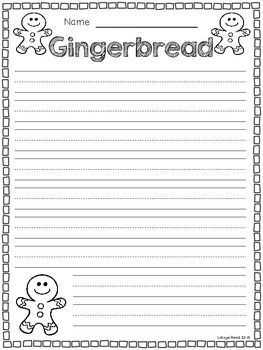 GINGERBREAD FREEBIES - TeachersPayTeachers.com