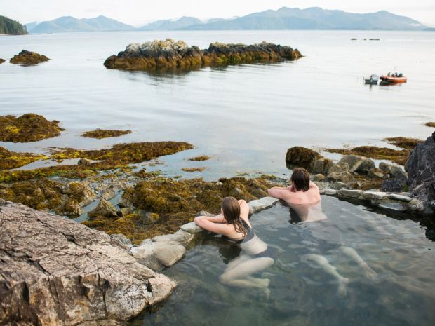Haida Gwaii hot springs, BC disappeared in the last earthquake but are starting to warm up again.