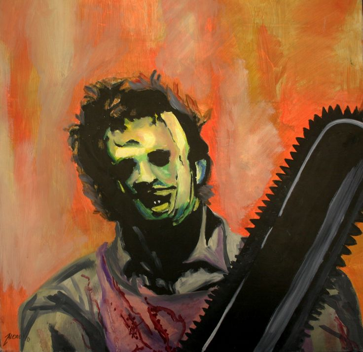 Leatherface 1974 Oil On Canvas 20 X 20