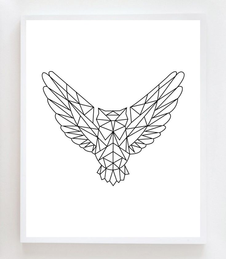 Geometric Owl Wall Art Print van OwlYouNeedIsLoveShop op Etsy