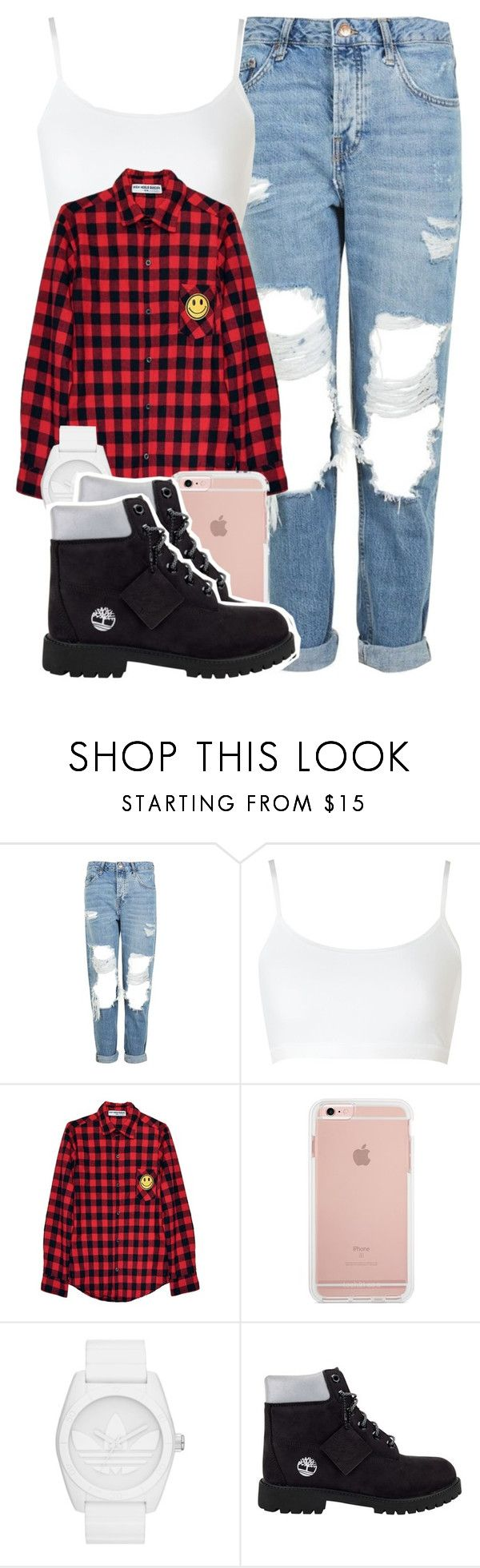 """Untitled #4355"" by dianna-argons-lover ❤ liked on Polyvore featuring Topshop, Sloggi, High Heels Suicide, adidas Originals and Timberland"