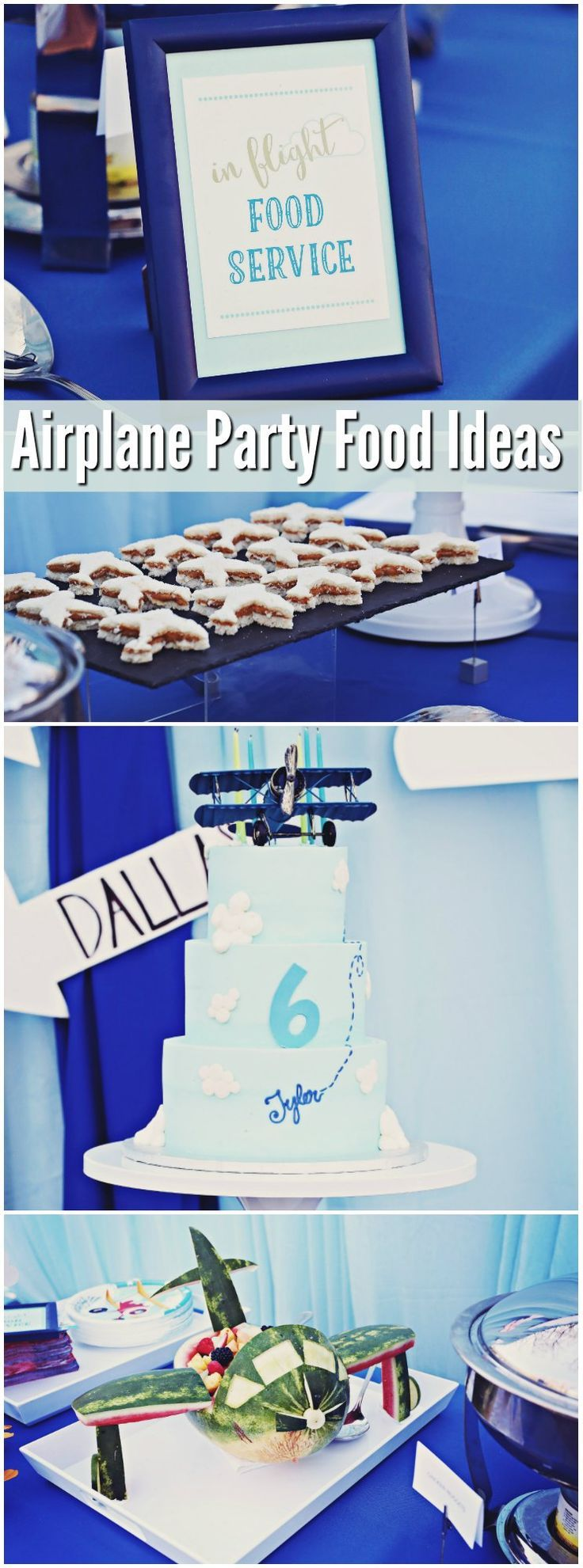Ultimate Airplane Birthday Party - lots of great food ideas