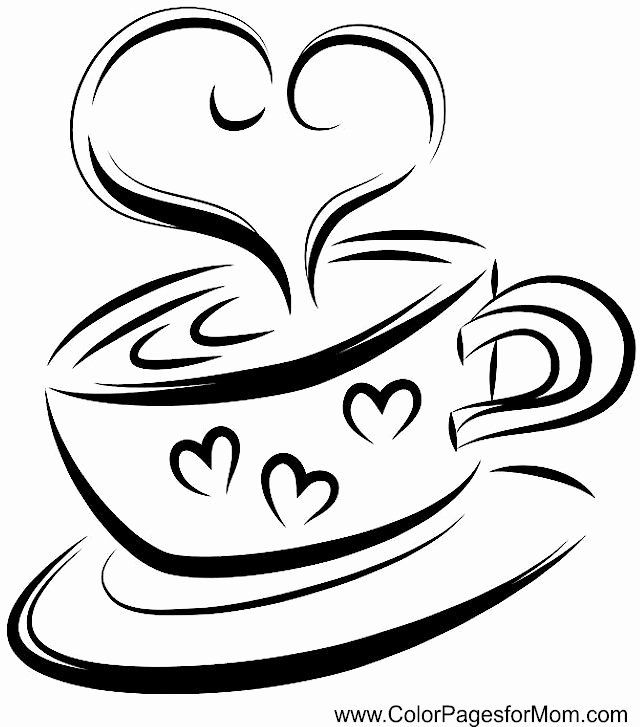 28 Coffee Cup Coloring Page In 2020 Coloring Pages Coffee Heart