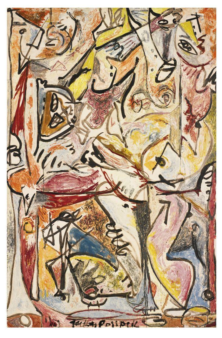 'The Blue Unconscious' (1946) by Jackson Pollock
