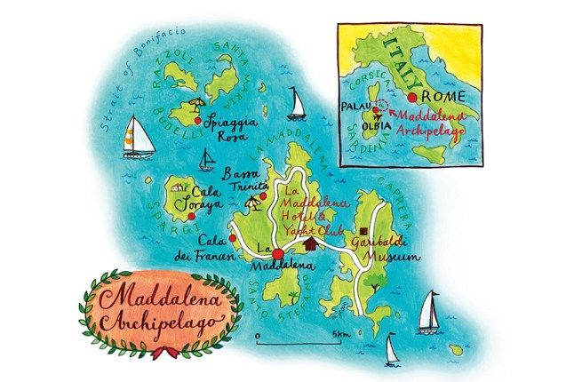 The Maddalena islands are only 20 minutes by ferry from the Sardinian port of Palau
