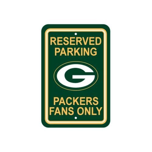 """NFL Green Bay Packers 12""""x18"""" Reserved Parking Sign Fans Only Football Man Cave"""