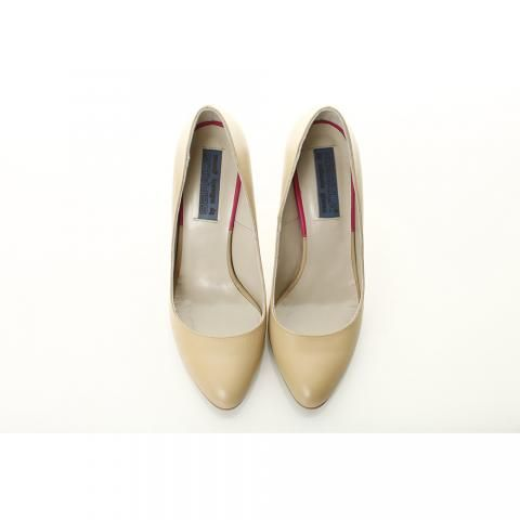 Pantofi piele nude toc stiletto | The Boutique