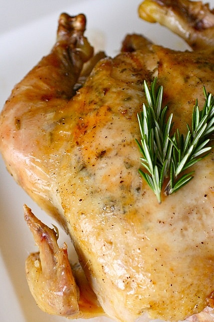 garlic rosemary roast chicken by annieseats, via Flickr