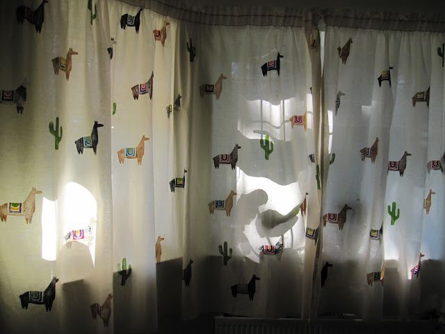 Llama curtains!!!