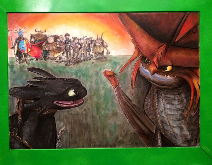 Dragon Trainer 2 - Toothless and Cloudjumper. Coloured pencils and panpastels on paper, 70x90 cm. Arual Jay. #Howtotrainyourdragons2 #Toothless #Cloudjumper