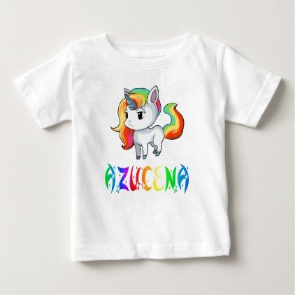 Azucena Unicorn Baby T-Shirt - baby gifts child new born gift idea diy cyo special unique design