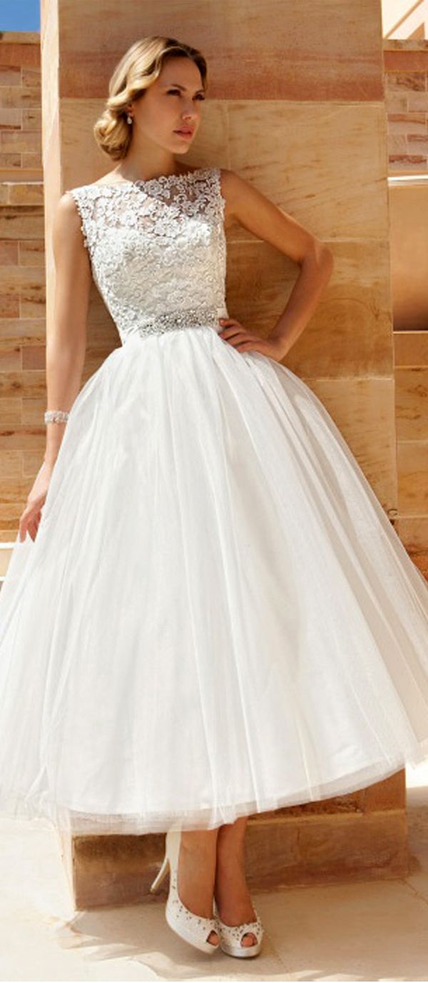 Best 25 ankle length bridesmaids dresses ideas on pinterest stunning tulle bateau neckline ankle length a line wedding dresses ombrellifo Image collections