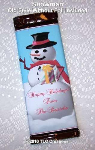 Snowman Christmas Holiday Wrapped Candy Bars Snowman Candy ...