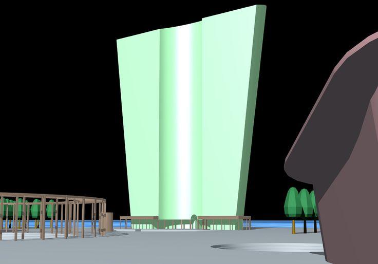 "Project, ""CYBORG CITY"" INTERNATIONAL COMPETITION, NEW YORK 1999, by Studio di Architettura Roberto Carlando, Piazza Monte Falterona n°11 Milano - 20148 Italy Phone    +39.02.48713840 studio@robertocarlando.com   ;  www.robertocarlando.com"